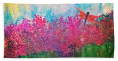 Field Of Flowers W Firefly Beach Towel