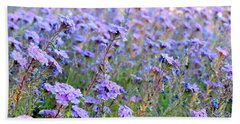 Field Of Lavendar Beach Sheet
