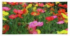 Field Of Poppies Beach Sheet