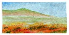 Field Of Poppies Beach Towel by Jamie Frier