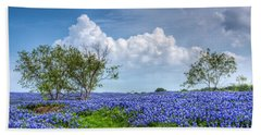 Field Of Texas Bluebonnets Beach Sheet