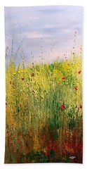 Field Of Wild Flowers Beach Towel