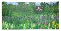 Field Of Wildflowers Beach Sheet