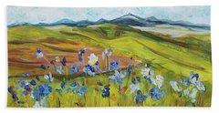Field With Flowers Beach Sheet