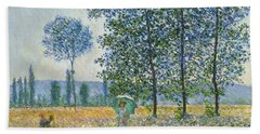Fields In Spring, 1887 Beach Towel