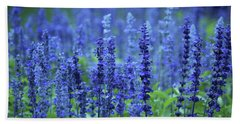 Fields Of Blue Beach Towel