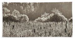 Fields Of Bulrush Beach Towel
