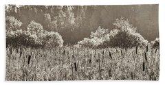 Fields Of Bulrush Beach Towel