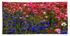 Fields Of Flowers Beach Towel