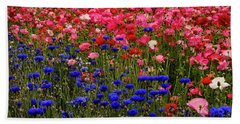 Fields Of Flowers Beach Sheet