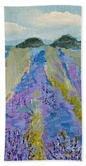 Fields Of Lavender Beach Sheet