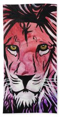 Beach Towel featuring the painting Fierce Protector 1 by Nathan Rhoads