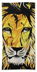 Beach Towel featuring the painting Fierce Protector 2 by Nathan Rhoads