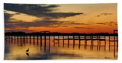 Beach Towel featuring the photograph Fiery Beginning by Norman Peay