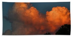 Fiery Cumulus Beach Sheet by Kathryn Meyer