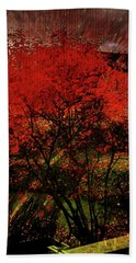 Beach Towel featuring the photograph Fiery Dance by Mimulux patricia No