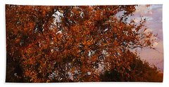 Fiery Elm Tree  Beach Sheet