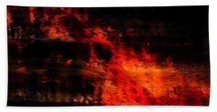 Fiery End Beach Towel