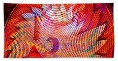 Beach Towel featuring the photograph Fiery Ferris Wheel by David Lee Thompson