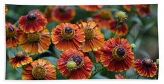 Fiery Heleniums Beach Sheet