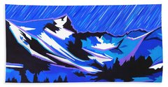 Fiery Raining Meteors Beach Towel