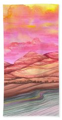 Fiery Sky Beach Towel by Adria Trail