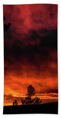 Fiery Sky Beach Towel