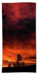 Beach Towel featuring the photograph Fiery Sky by Jason Coward