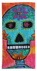 Beach Towel featuring the painting Fiesta Of Colors by Amy Gallagher