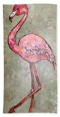 Fifi Flamingo Beach Towel