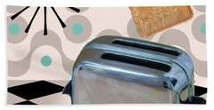 Fifties Kitchen Toaster Beach Towel