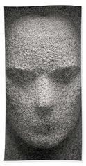 Figure In Stone Beach Towel