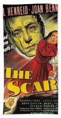 Film Noir Poster  The Scar Beach Towel