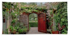 Filoli Garden Entrance Beach Towel