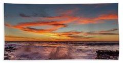 Final Sunset Of 2016 Beach Towel