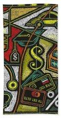 Finance And Medical Career Beach Towel by Leon Zernitsky