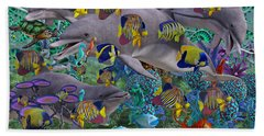 Find The Sea Dragon Beach Towel by Betsy Knapp