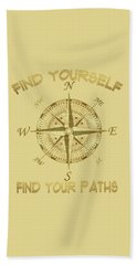 Beach Towel featuring the painting Find Yourself Find Your Paths by Georgeta Blanaru