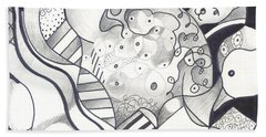 Organic Abstraction Beach Towels
