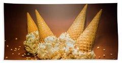 Fine Art Ice Cream Cone Spill Beach Towel