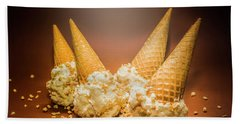Fine Art Ice Cream Cone Spill Beach Towel