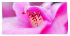 Fine Art- Pink Camellia Beach Sheet