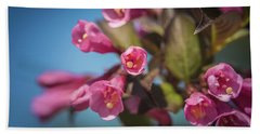 Beach Towel featuring the photograph Fine Wine Weigela by William Lee