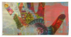 Finger Paint Beach Towel by Kelly Awad
