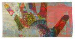 Finger Paint Beach Sheet by Kelly Awad
