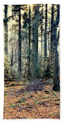 Fir Forest-2 Beach Sheet by Henryk Gorecki