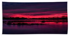 Fire And Ice Sunrise Beach Towel