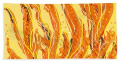 Fire Beach Towel
