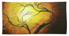 Fire Blossoms Beach Towel