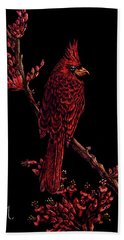 Fire Cardinal Beach Towel